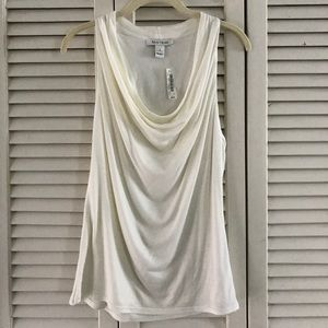 Tops - WHBM Sleeveless Cowl Neck Top/ Ivory/ NWT